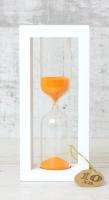 Стеклоприбор Часы песочные 4-27-10мин., песок оранжевый, белый (300588)