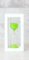 Стеклоприбор Часы песочные 4-27-10мин., песок салатовый, белый (300589)