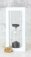 Стеклоприбор Часы песочные 4-27-10мин., песок черный, белый (300590)