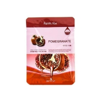 Тканевая маска с натуральным экстрактом граната FarmStay VISIBLE DIFFERENCE POMEGRANATE MASK PACK 23 мл (6650068)