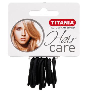 Резинки для волос TITANIA, 3 см, 12 шт., черные (7800)
