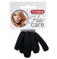 Резинки для волос TITANIA, 3,5 см, 6 шт., черные (7871)