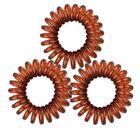 Резинки для волос TITANIA, 2,5 см, 3 шт., коричневые, пружина (7915)