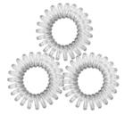 Резинки для волос TITANIA, 2,5 см, 3 шт., прозрачные, пружина (7916)