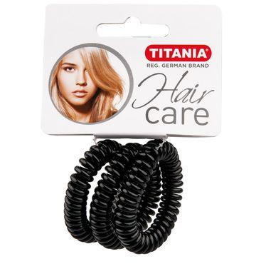 Резинки для волос TITANIA, пружина, 4 см, 3 шт., черные (7917)