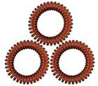 Резинки для волос TITANIA, пружина, 4 см, 3 шт., коричневые (7918)