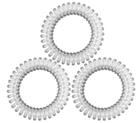 Резинки для волос TITANIA, пружина, 4 см, 3 шт., прозрачные (7919)