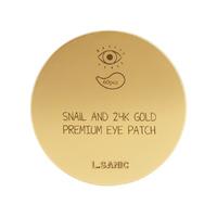 Гидрогелевые патчи для области вокруг глаз с муцином улитки и золотом L.SANIC SNAIL AND 24K GOLD PREMIUM EYE PATCH, 60 шт. (804074)