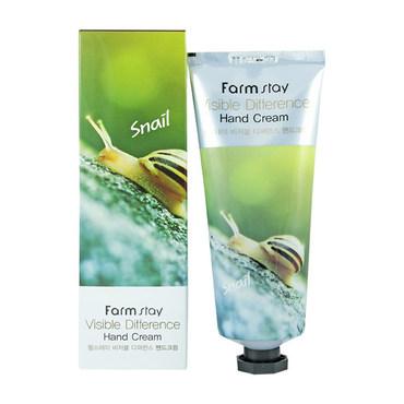 Крем для рук с экстрактом улитки FarmStay VISIBLE DIFFERERCE HAND CREAM SNAIL 100 мл (8561953)