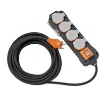 9152450100 Brennenstuhl professionalLINE удлинитель 5м, 4 розетки,выкл.,каб.2.5мм,IP54