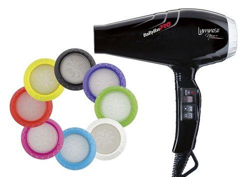 Фен профессиональный BaByliss PRO BAB6350IBE Luminoso 2100W (черный)
