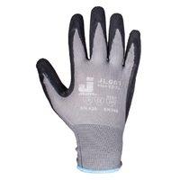 Jeta Safety JL061 Защитные трикотажные перчатки из полиэстра с латексным покрытием, цвет серый/черный