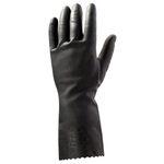 Jeta Safety JL711 Латексные перчатки без напыления, черные
