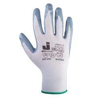 Jeta Safety JN011 Защитные трикотажные перчатки из полиэстра с нитриловым покрытием, цвет серый
