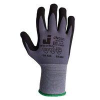 Jeta Safety JN031 Защитные трикотажные перчатки из полиэстра с микронитриловым покрытием, цвет серый
