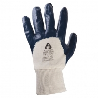 Jeta Safety JN063 Защитные перчатки из 100% хлопка с нитриловым покрытием(3\4) и вязаной манжетой