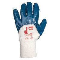 Jeta Safety JN066 Защитные перчатки из 100% хлопка с нитриловым покрытием на 3/4 и вязаной манжетой
