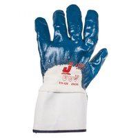 Jeta Safety JN067 Защитные трикотажные перчатки из 100% хлопка с нитриловым покрытием на 3/4 и крагой