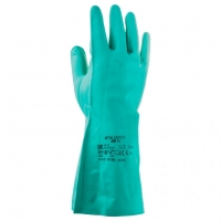 Jeta Safety JN711 Нитриловые перчатки с хлопковым напылением изнутри, зеленые