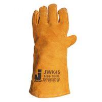Jeta Safety JWK45 Защитные перчатки (краги) из коровьей кожи с хб подкладкой, цвет желтый, размер XL