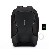 Рюкзак для ноутбука 15,6 дюйма SEASONS антивандальный MSP3721 с USB портом, черный
