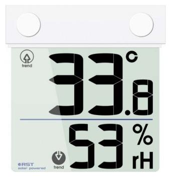 Оконный термогигрометр на солнечной батарее RST 01378