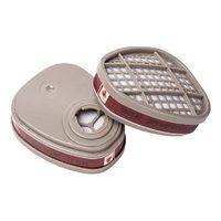 Фильтр противогазовый 2шт. Jeta Safety 6510 для защиты от органических газов и паров класса А1.