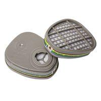 Фильтр противогазовый 2шт. Jeta Safety 6541 для защиты от органических, неорганических, кислых газов и аммиака класса A1E1B1K1